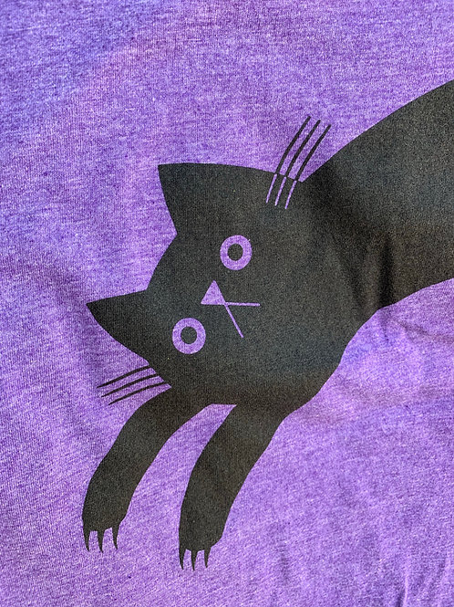 Women's Purple CLAWS OUT cat t-shirt
