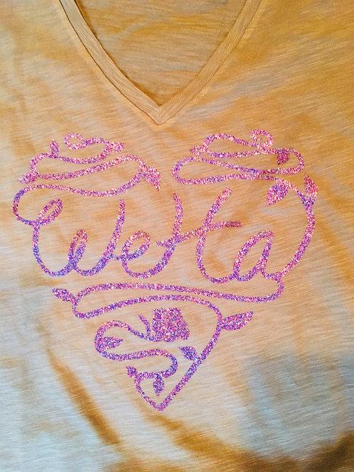 WeHa Rose glitter t-shirt