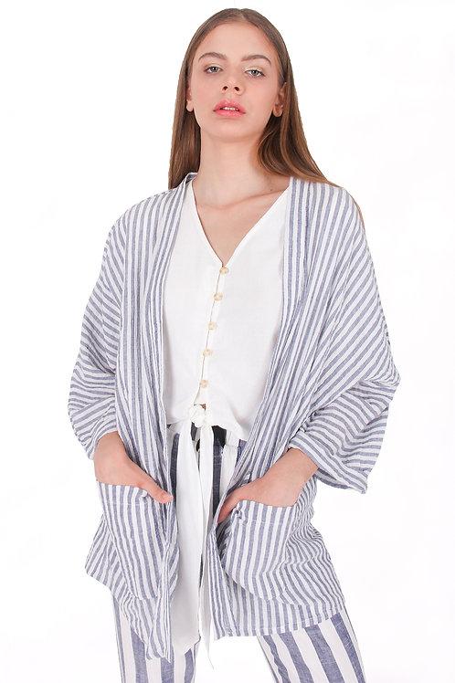 Linen Stripe Outer