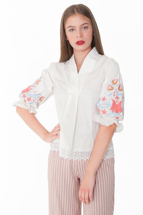 Embroidery Blouse Cotton Bordir