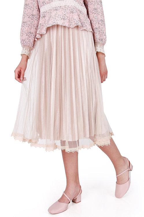Plitted Net Skirt