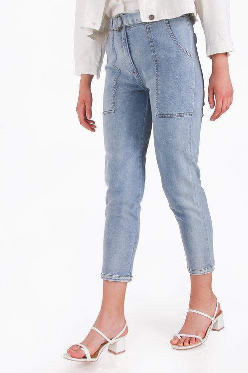 Denim Cargo Pant + Belt