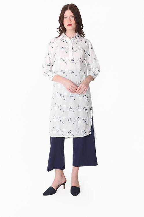 Tunic Embroidery Blouse + Belt
