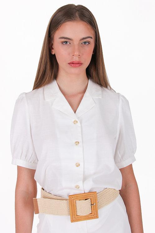 Cotton Linen Collar Blouse