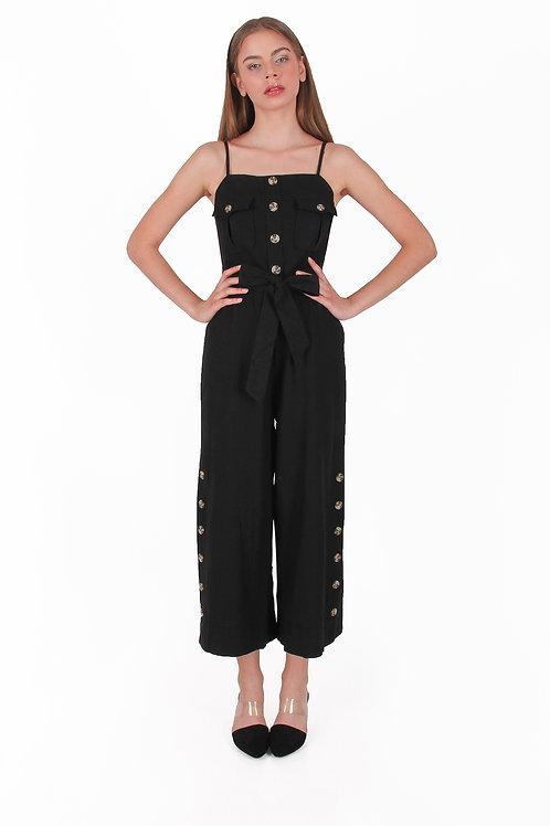 Linen Jumpsuit with Belt