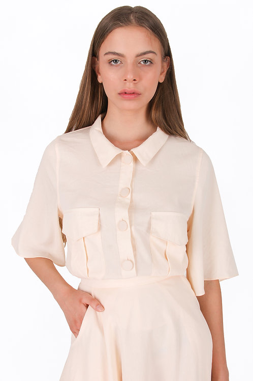 Colar Blouse with Pocket