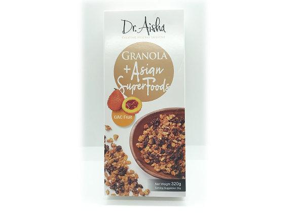 【賞味期限:2011/11/10】ドクターアイシャグラノーラ+アジアンスーパーフード ガックフルーツ 320g x 1箱