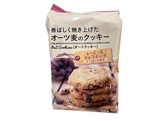 オーツ麦 クッキーレーズン&チョコチップ 11枚入x1袋
