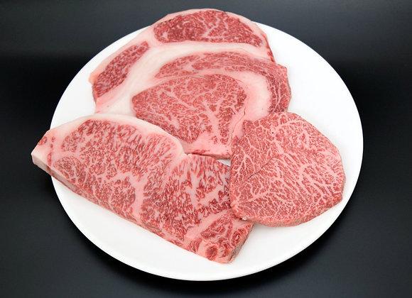 なかにし和牛ステーキ食べ比べセット 730g