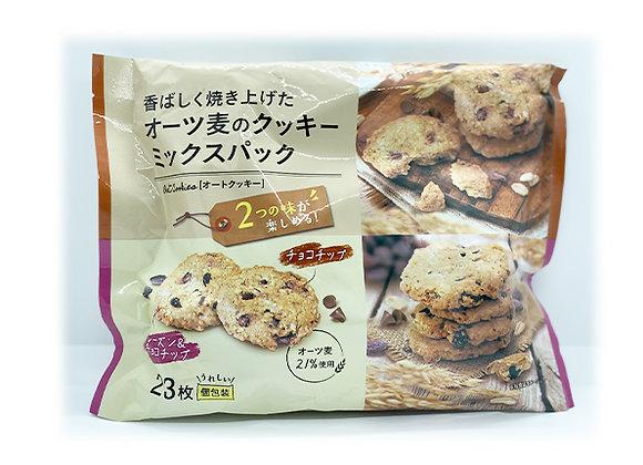 Oat Cookies mix pack (choco chips, raisin & choco chips) 23packs x 1