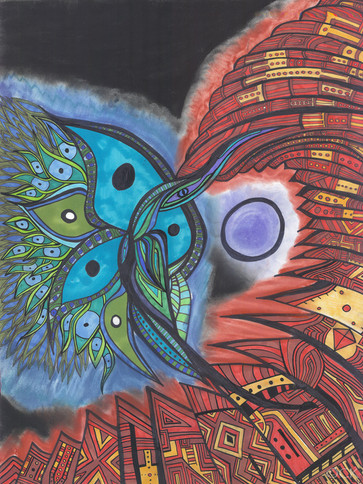 Blue Star Hummingbird