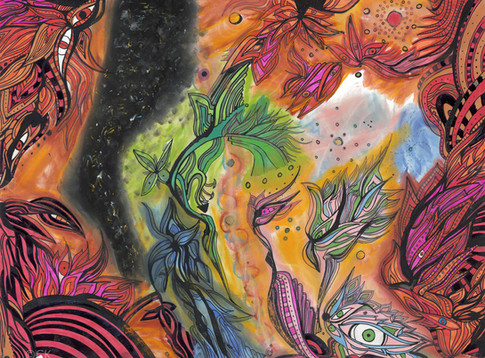 Vishnu and Padmā Dreaming the Dream of the World