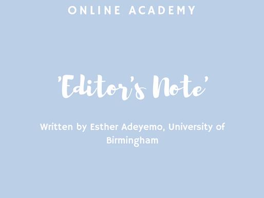 Hi-R Online Academy - Editor's Note