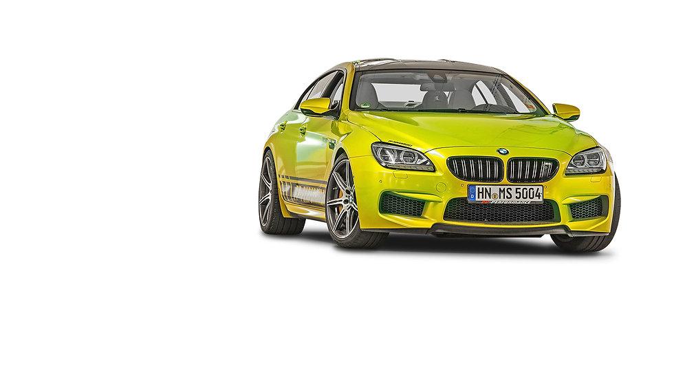BMW M6 PP performance geel voor en zijka