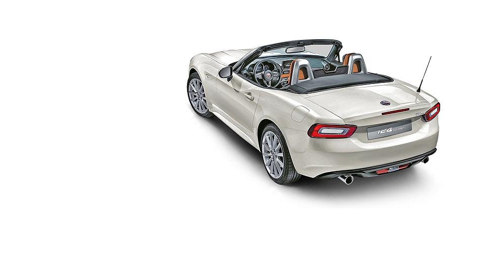 Fiat-Spider-wit-achteren-zijkant-dak-ope