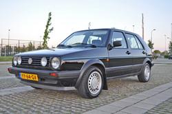 VW Golf voor en na het polijsten