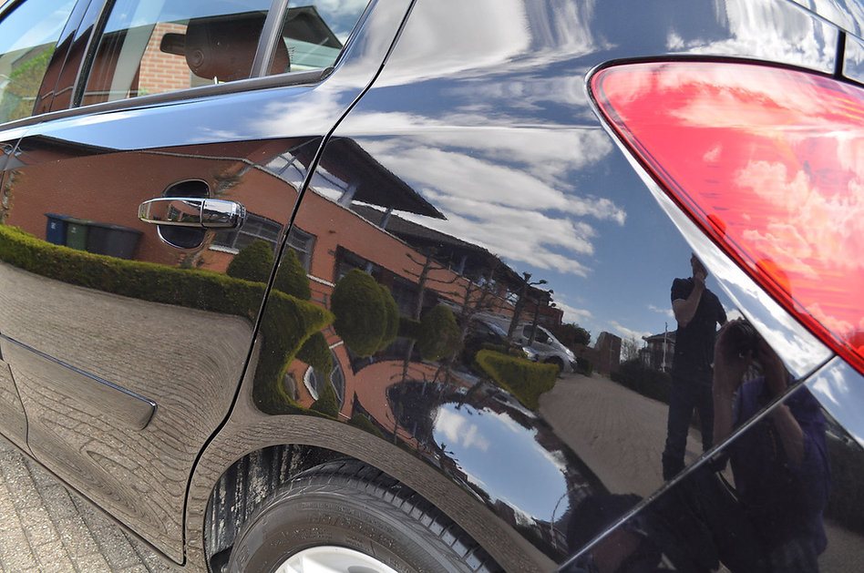 Achterdeur Opel Corsa krasvrij na het po