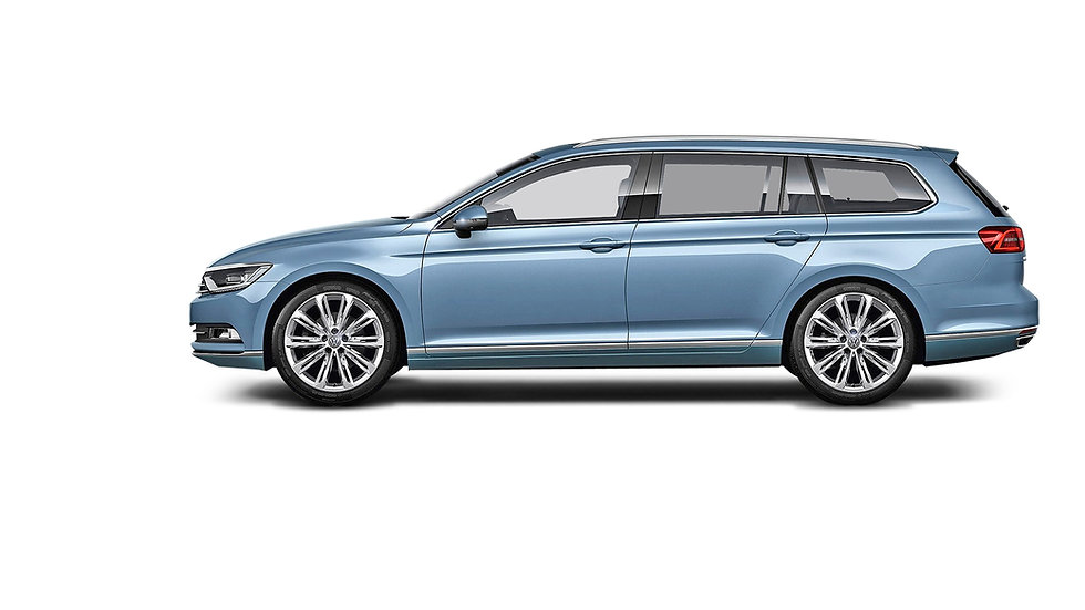 Volkswagen-Passat-zijkant-blauw-metallic