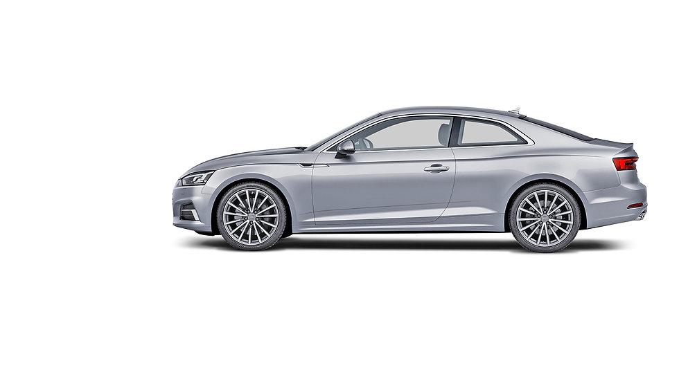 Audi A5 2016 zijkant zilvergrijs opening
