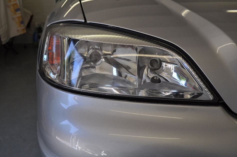 Koplamp Opel astra glashelder na polijst