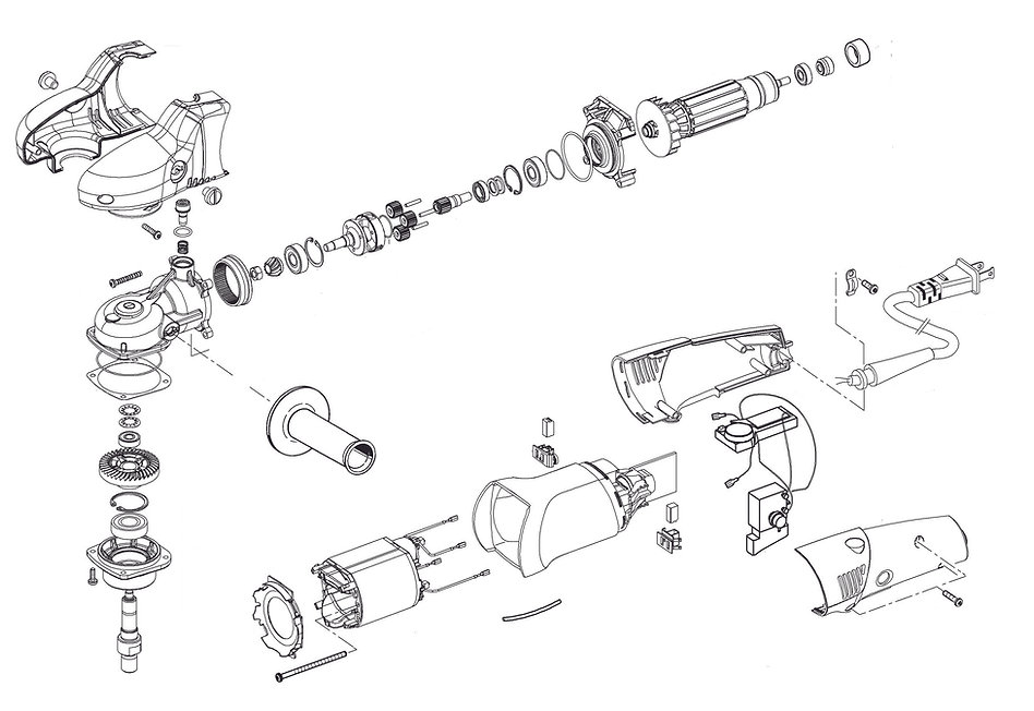 FLEX PE 14-2-150 exploded view onderdele