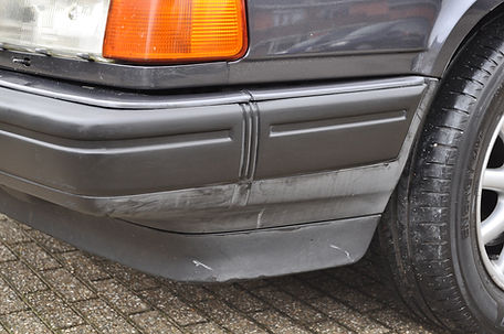 Bumper-Volvo-V70 met-pindakaas-weer-zwar