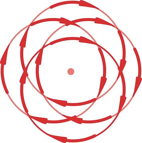 Beweging dual action polijstmachine rood