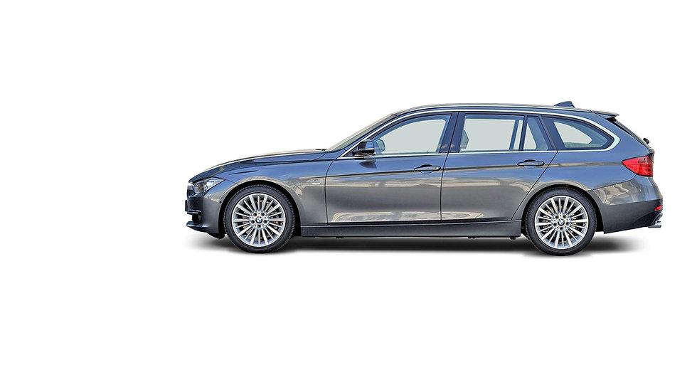 BMW 3 series zijkant grijs metallic 2013
