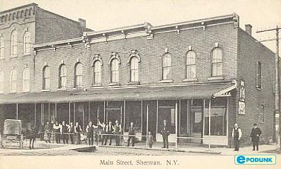 History photo of Main St, Sherman, NY - Unknown date
