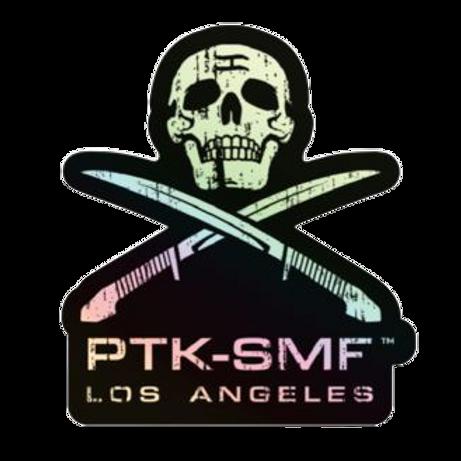 "PTKSMFLA Pirate Holographic Sticker 3"""