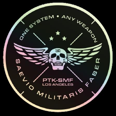 "PTKSMFLA One System Holographic Sticker 3"""