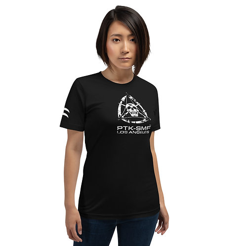 PTKSMFLA PTK SYSTEM (DISTRESS) Short-Sleeve Unisex T-Shirt
