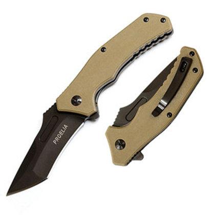 Proelia TX030TG Fine Edge Knife Tan