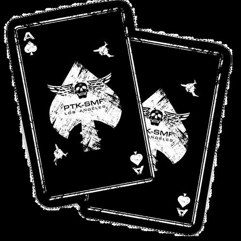 """PTKSMFLA Death Card Die Cut Sticker 4"""""""