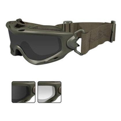 Wiley X Spear Goggle Smk Gry/Clear Lens/Foliage Grn Frame