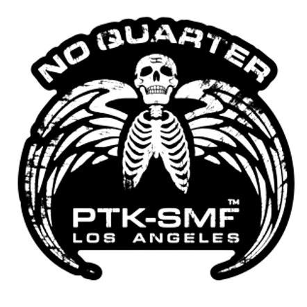 """PTKSMFLA No Quarter Die Cut Sticker 3"""""""