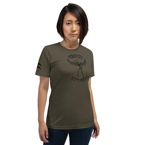 PTKSMFLA WINGED WARRIOR BLACKOUT Short-Sleeve Unisex T-Shirt