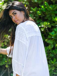 Dahlia Tunic white side