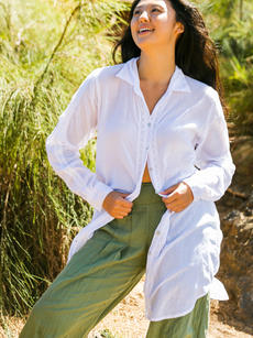 Cora Jacket white over Opal Pant olive