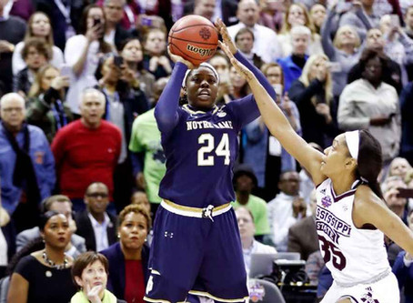 Irish's Arike Ogunbowale hits shot of a lifetime...