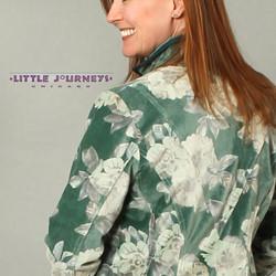 Poster Stripes Jacket Floral Back Detail