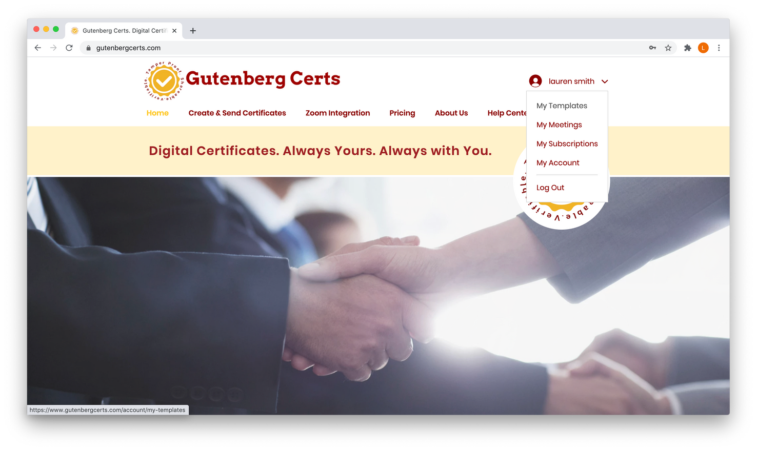 Let's create a certificate template!