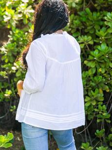 Bernadette Blouse white back