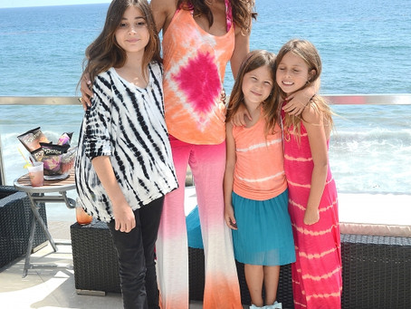 Brooke Burke and the girls