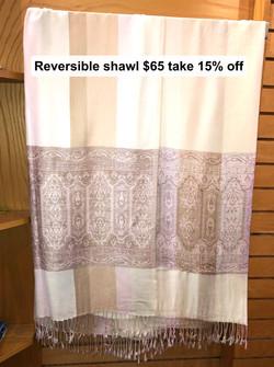 Reversible Shawl $65 Take 15% off