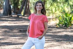 Lynette Cap Sleeve - Coral