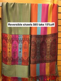 Reversible Shawls $65 Take 15% off