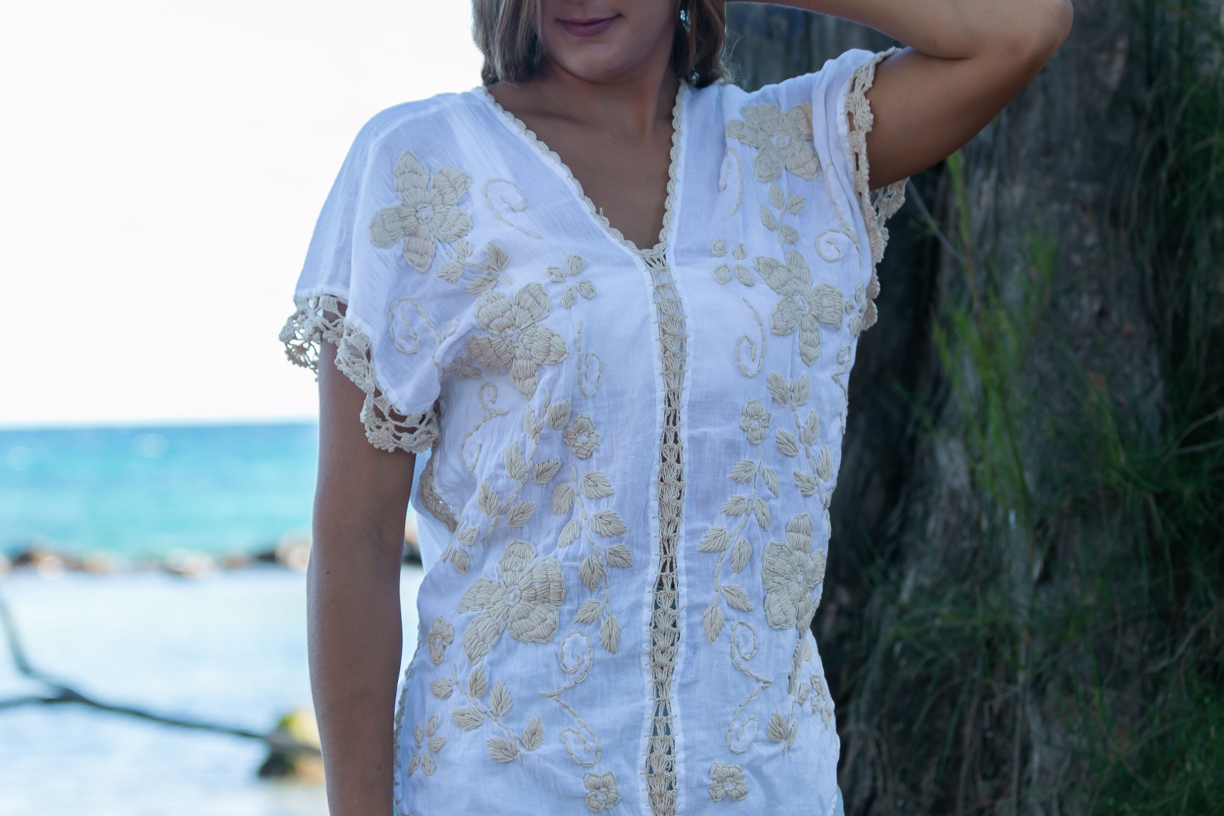 Flora Blouse - White