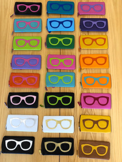 Leather eye cases 15%off $25