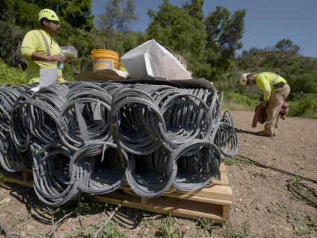 Crews Prep for Debris Net Installation